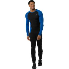 Smartwool Merino 200 Baselayer Long Sleeve Men Bright Blue-Black